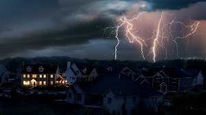 Home Powered by a Kohler Standby Generator During a Storm