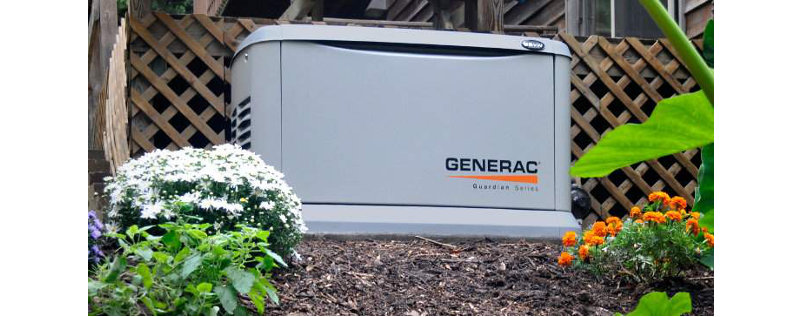 Generac Generator Home Standby Installed with Landscaping
