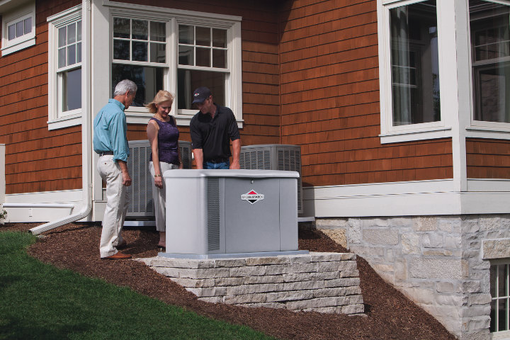 The 60kW Briggs and Stratton Liquid Cooled Standby Generator for luxury homes, estates, and commercial applications.