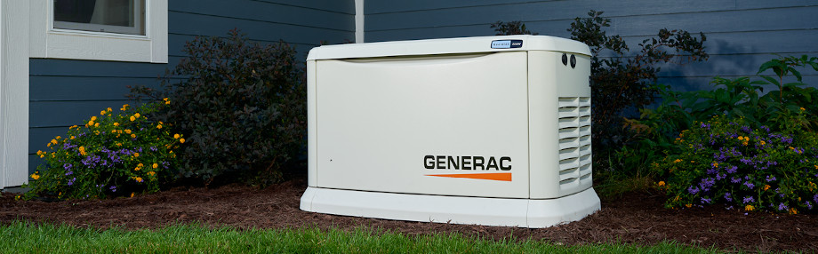 A Generac Guardian Standby Generator Installed Outside a Home
