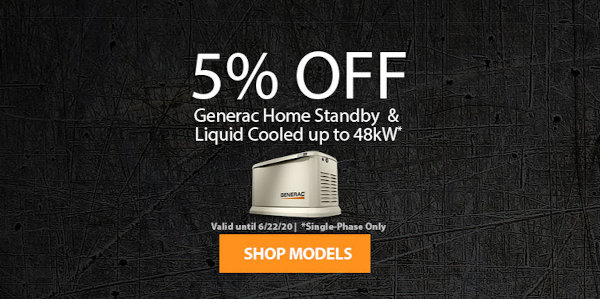 Generac 5% Off Promotion June 8-22