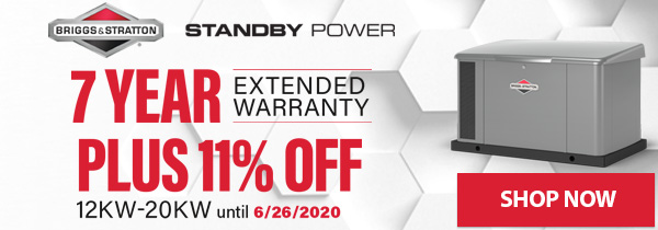 11% Off Briggs and Stratton Standby Generators + 7 Year Extended Warranty